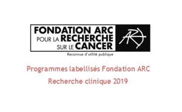 Fondation Arc Programmes Labellises Recherche Clinique 2019
