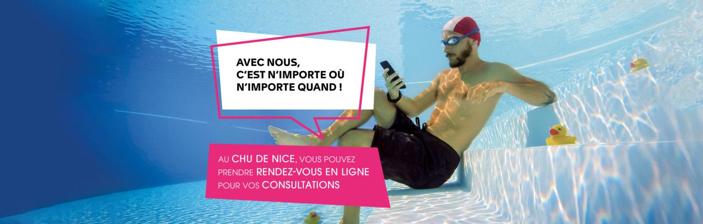 Prise De Rendez Vous En Ligne Au Chu De Nice Slideshow Piscine