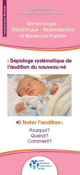 Dépistage systématique de l'audition du nouveau-né