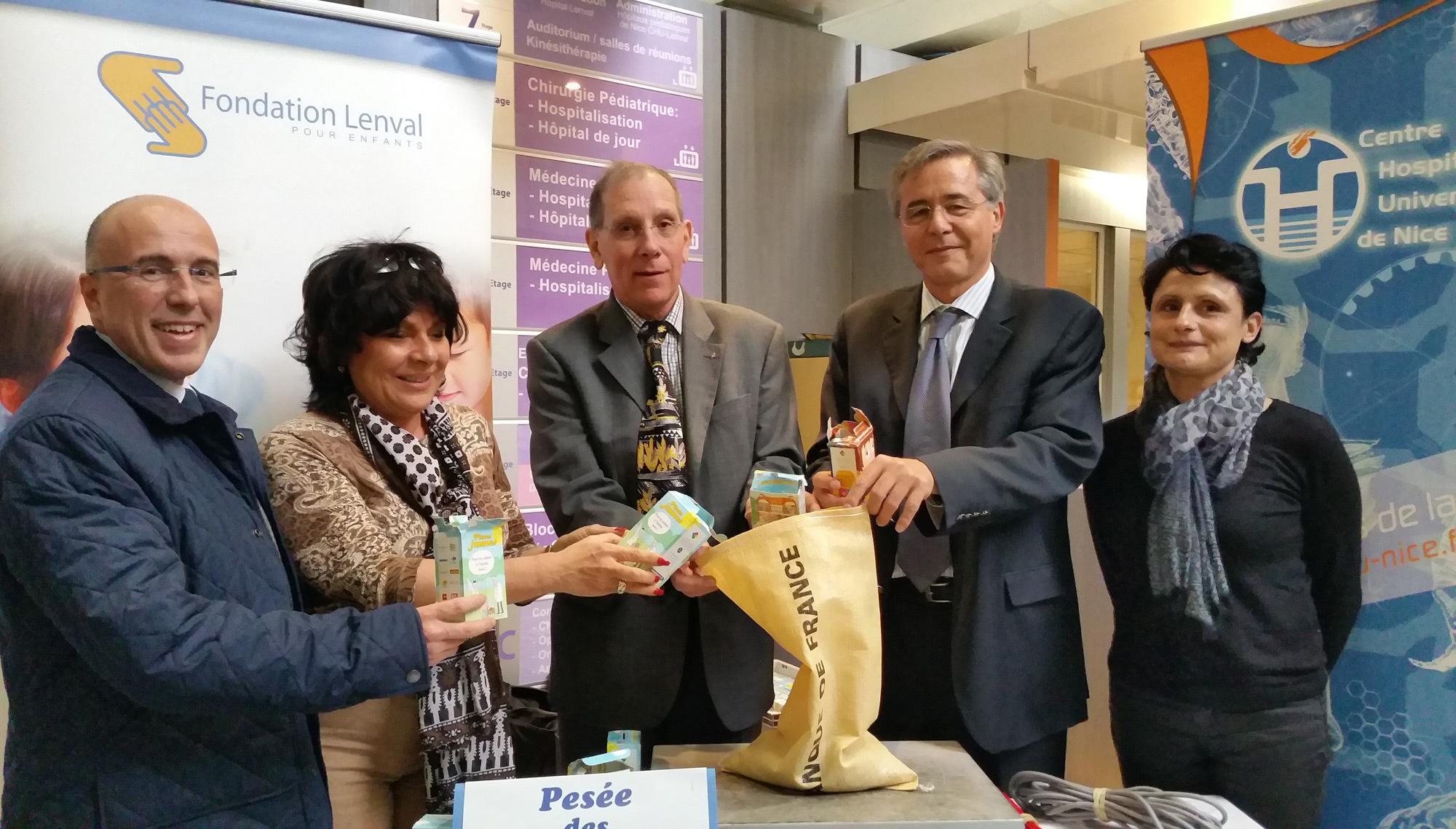Cette année 56 kg de Pièces Jaunes ont été récoltées par les Hôpitaux pédiatriques de Nice CHU-LENVAL